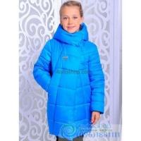 Куртка-пальто зимняя Бирюза рост от 122 до 146 см