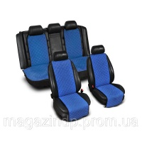 Накидки на сиденье «Эко-замша» узкие (комплект) без лого, цвет синий Код:639926554 escape:'html'