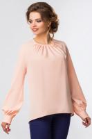 Розовая блузка со складами и объемными рукавами escape:'html'