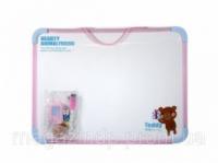 Доски детские для рисования Deli 7803Е 30х40 маркер+3магнита+губка (игра) Код:388906650|escape:'html'
