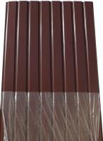 Профнастил цветной, 8-ми волновой, Альбатрос, ПС-8, 0,3 мм, цвет: шоколад, 1,75м х 0,95м|escape:'html'