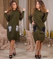 Вязаное платье стильное 0221 СВ Код:616684306|escape:'html'