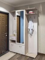 Шкаф с вешалкой для прихожей Грета 1400*2025*370 дуб сонома/белый escape:'html'