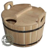 Запарник для веника дубовый, 18 л. Запарник для бани с крышкой|escape:'html'