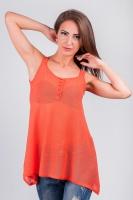 Майка свободная женская из тонкого трикотажа AG-3369 Оранжевый