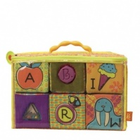 Развивающие мягкие кубики-сортеры ABC (6 кубиков, в сумочке) от Battat - под заказ|escape:'html'