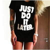 Футболка Just do it later|escape:'html'
