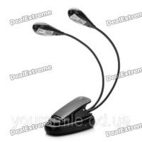 Лампа USB 906 4led настольная лампа и питанием от порта USB на прищепке 4-LED 2-режимная - черный (3 х ААА)