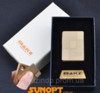 USB зажигалка-слайдер в подарочной упаковке MAKE (Спираль накаливания) №XT-4692-4 Код:627504467 escape:'html'