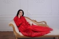 Пледы с рукавами из микрофибры (женский) Красный
