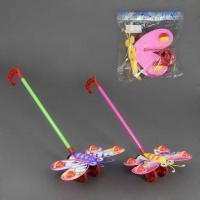 Каталка W 882-13 (120/2) «Бабочка» на палочке, машет крыльями с погремушкой, 2 цвета, в кульке|escape:'html'