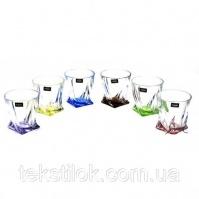 Набор стаканов для виски Квадро Svetla Colour 340мл, Чехия|escape:'html'