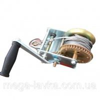 Лебедка рычажная барабанная стальной трос 900кг Intertool GT1455|escape:'html'