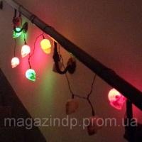 Светодиодная LED гирлянда «Черепа», аксессуар на Хэллоуин Код:393927693