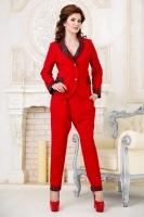 Стильный женский деловой костюм Размер 42-46 (К-856 Art. JPN Тон 2)