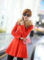 Шерстяное женское пальто, женское пальто мех, жіноче пальто