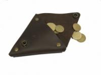 Кожаный кошелек для монет Дощ PRUT, коричневый|escape:'html'
