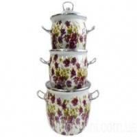 Набор эмаль посуды №1600 (3пр)«Джулия» Epos|escape:'html'