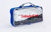 Сетка для волейбола C-5641 (PE, 3мм, р-р 9,5x1м, ячейка 12x12см, с металлическим тросом)|escape:'html'