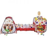 Детская игровая палатка с тоннелем и мячиками escape:'html'