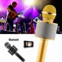 Портативный караоке микрофон ws 858 - со встроенным динамиком , соединением через bluetooth