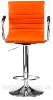 Барный стул Bar orange plate E1137, оранжевый регулируется по высоте, газлифт escape:'html'