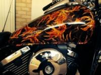 Покраска мотоцикла Аквапринт Аквапечать Харьков|escape:'html'