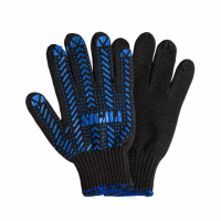 Перчатки трикотажные с ПВХ точкой р10 Актив (черные) Sigma (9442471)|escape:'html'