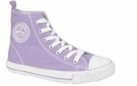 Высокие кеды American club, светло фиолетовые