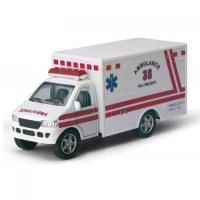 Модель скорая помощь грузовик 5« KS5259W Rescue team метал.инерц.откр.дв.кор.ш.к./96/|escape:'html'