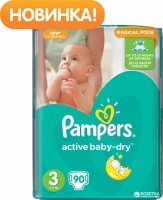 Подгузники Pampers Active Baby-Dry Midi 3, 82 шт.|escape:'html'