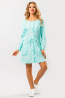 Льняное платье Горох на мятном|escape:'html'