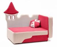 Детский диванчик «Замок розовый»|escape:'html'