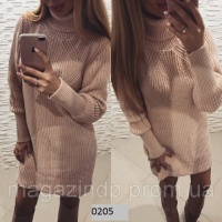 Вязаное платье свитер 0205 СВ Код:616680084|escape:'html'