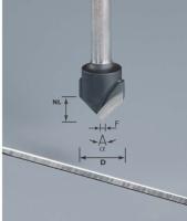 Фреза V-образная HW D18-90GRAD (ALU) пазовая для фрезерования композитных панелей 90 градусов|escape:'html'