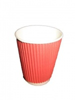 Стакан бумажный для кофе и чая 250мл « Гофра » Маэстро Коралл (20 шт)