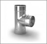 Тройник дымохода одностенный 90º, Ø160, 0,5 мм AISI 304 escape:'html'