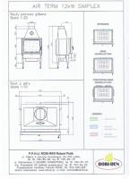 Топка, каминный вклад ROBI-REN AIR TERM 12 kW Simplex Akubet Внутренний|escape:'html'