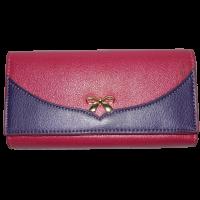 Кошелек женский (заменитель кожи), 0988-PINK/PURPLE Розовый, размер 180*90*25 escape:'html'