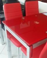 Стол стеклянный раскладной ТВ017 красный 110\170*75*75см escape:'html'