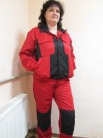 Костюм мужской, демисезон, красная куртка с полукомбинезоном|escape:'html'