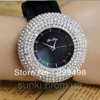 Дизайнерские модные женские часы Bling со стразами|escape:'html'