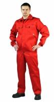Костюм мужской летний, с полукомбинезоном красный с серым|escape:'html'