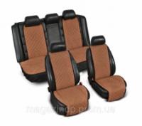 Накидки на сиденье «Эко-замша» широкие (комплект) без лого, цвет светло-коричневый Код:639926570|escape:'html'