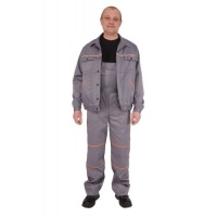 Куртка и полукомбинезон серые - рабочий костюм для СТО|escape:'html'