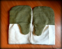 Рабочие рукавицы, х/б с брезентовым наладонником|escape:'html'