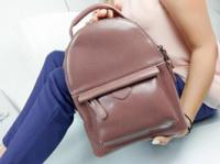 Женский рюкзак. Натуральная кожа. Цвет пудра.