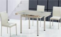 Стеклянные столы TB008-6-2 купить Украина, стеклянные обеденные столы TB008-6-2 кремовый фото Киев, столы обеденные TB00|escape:'html'