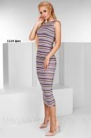 Вязаное платье без рукав 1114 фан Код:587164775|escape:'html'