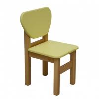 Детский стульчик Верес дерево/плёнка МДФ желтый escape:'html'